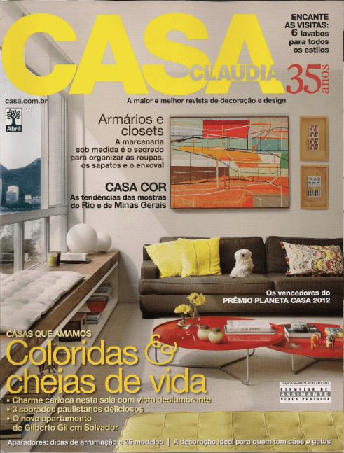 Casa Claudia  - out  2012 - 1Capa